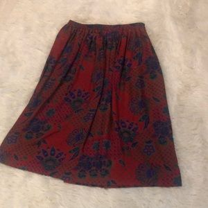 Plus Size Vintage Skirt, Colorful 16 Petite